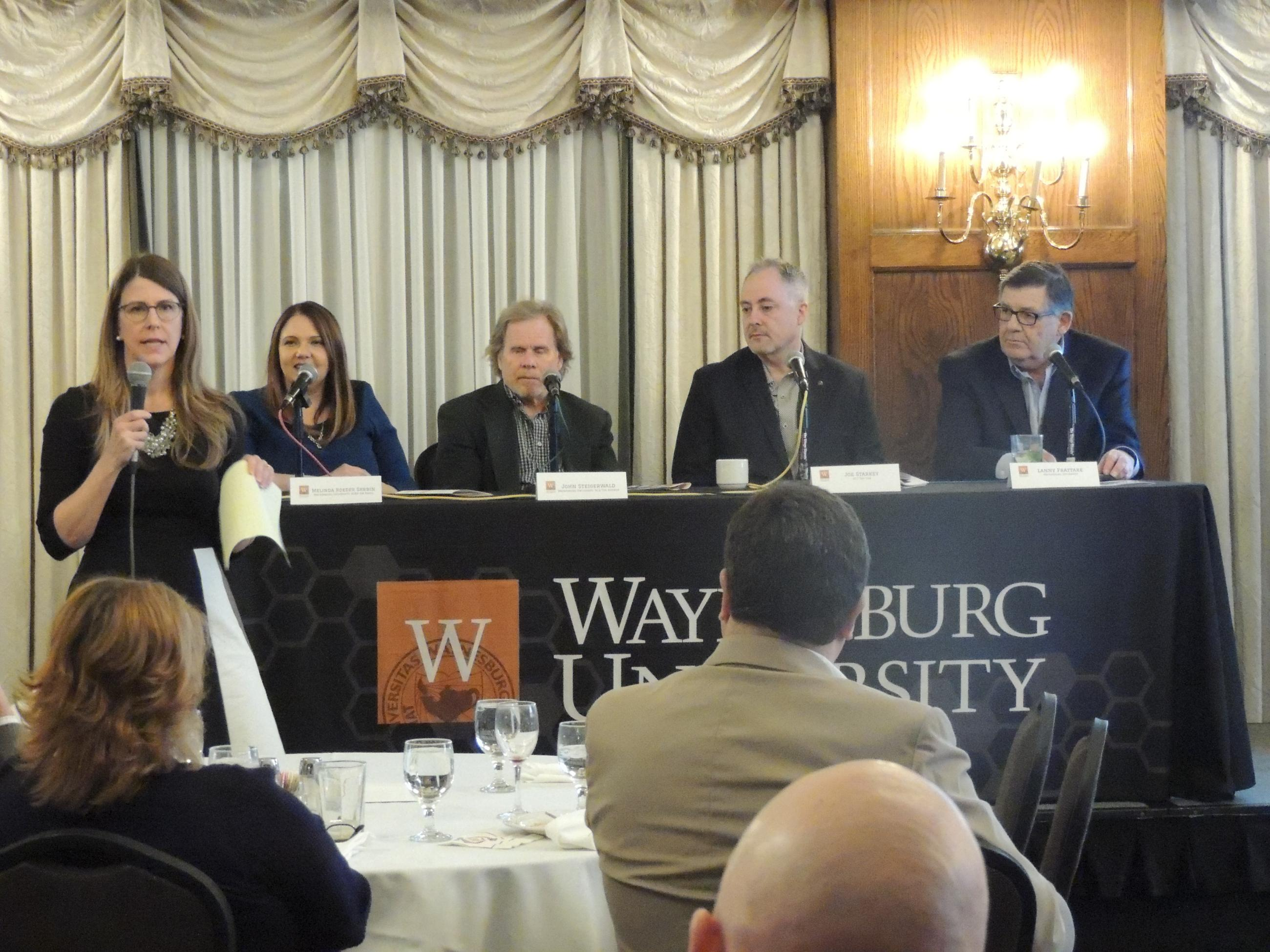 Stacey Brodak VP of Institutional Advancement, Melinda Roeder Skrbin, John Steigerwald, Joe Starkey, Lanny Frattare