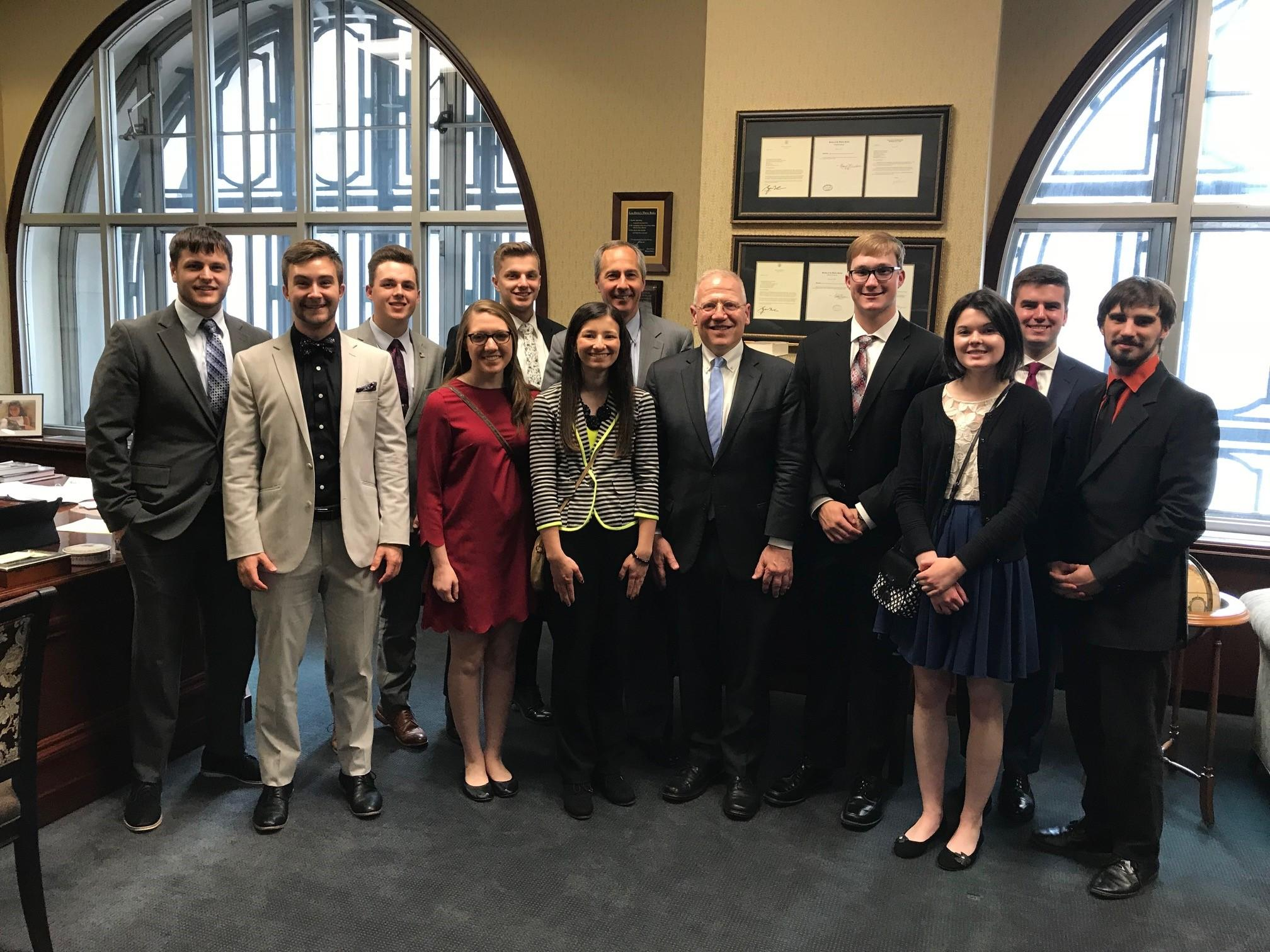 Pre-Law students pictured with Judge Harriman 3rd Circuit